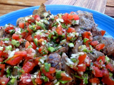 Skirt Steak with Pico de Gallo!