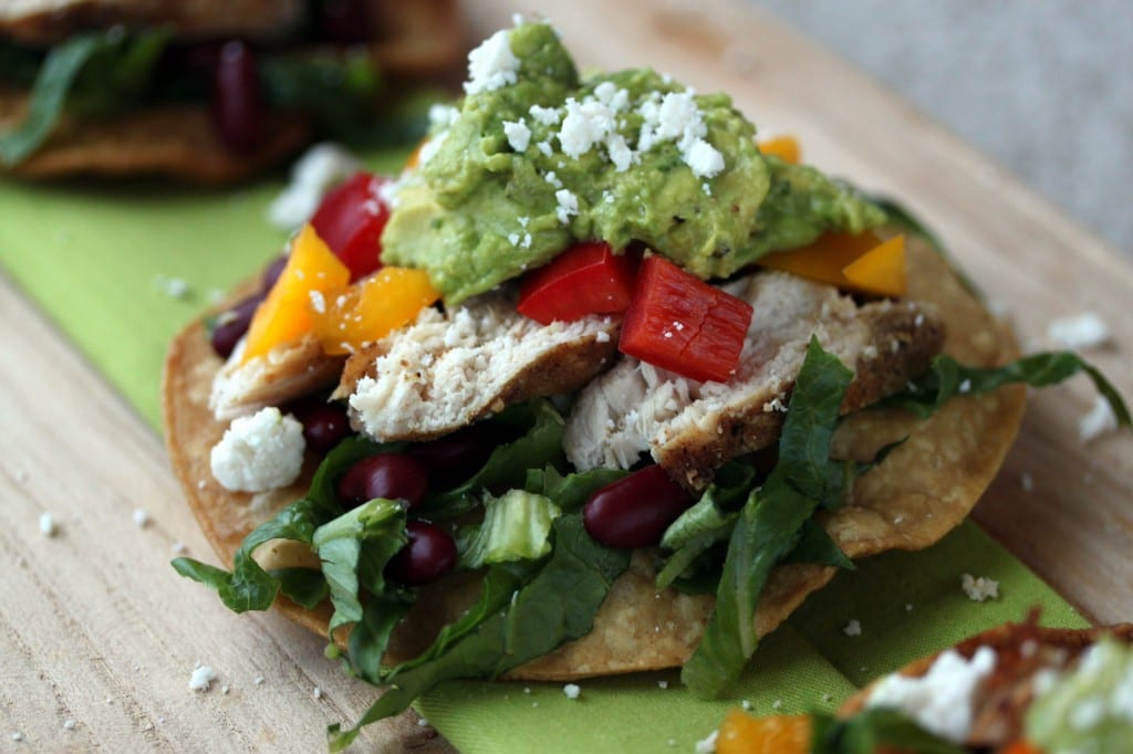 Cumin Dusted Chicken Tostadas