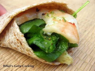 Pesto Shrimp Hand Roll