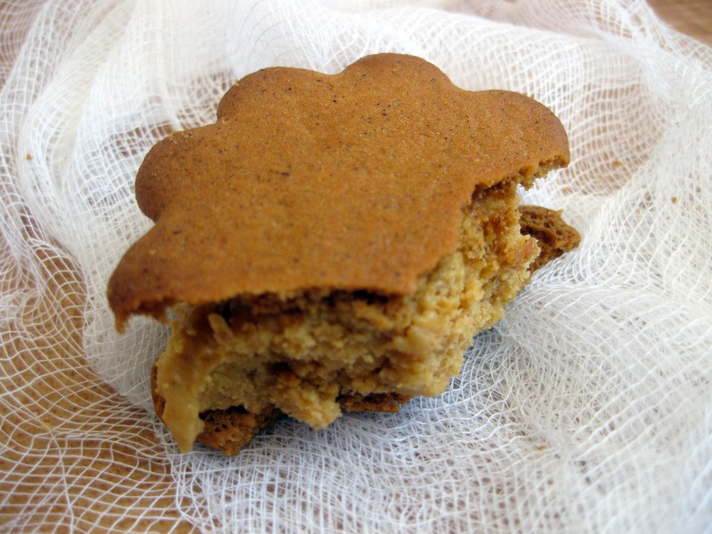 Pumpkin Ice Cream Sandwiches with Gingersnap Cookies - What's Gaby ...