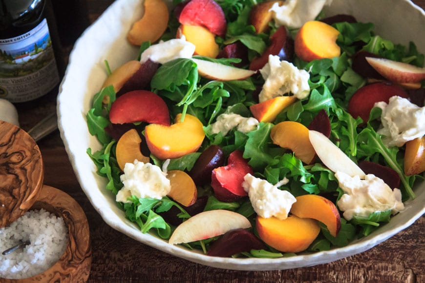 Summer Stone Fruit and Burrata Salad | What's Gaby Cooking
