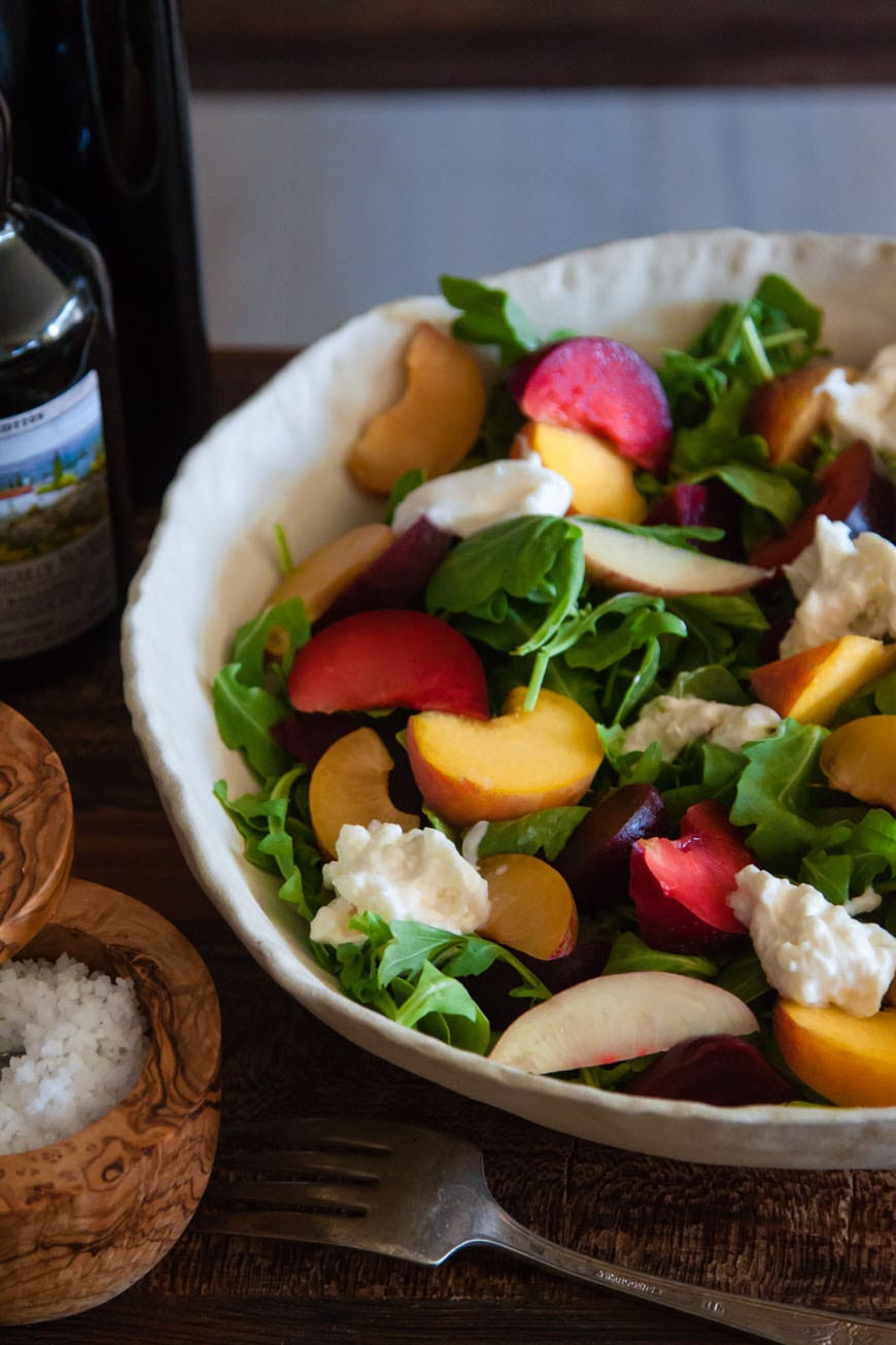 Stone Fruit and Burrata Salad | What's Gaby Cooking