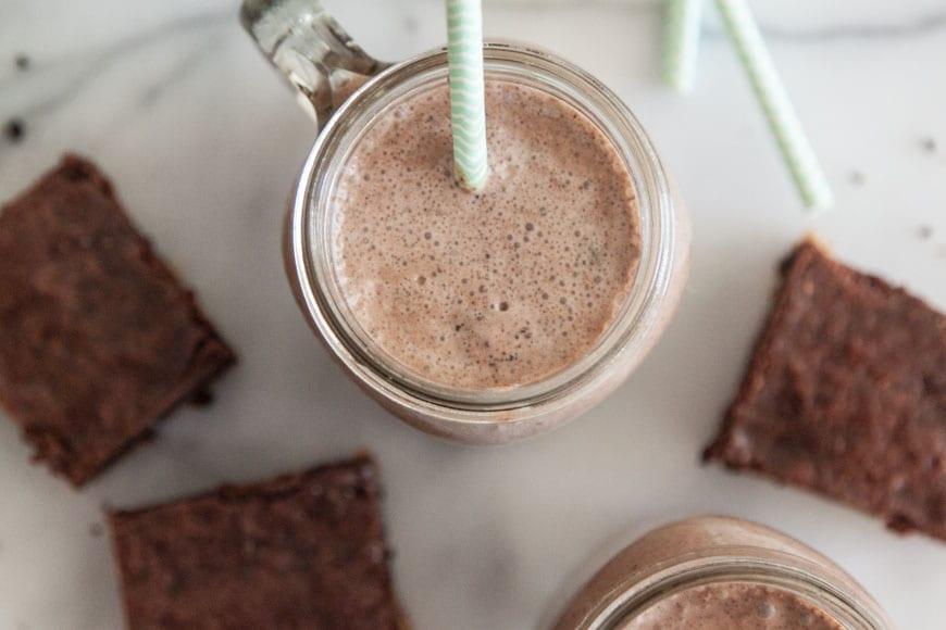 Mocha Brownie Milkshake
