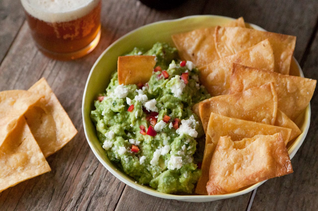 Spicy Queso Fresco Guacamole