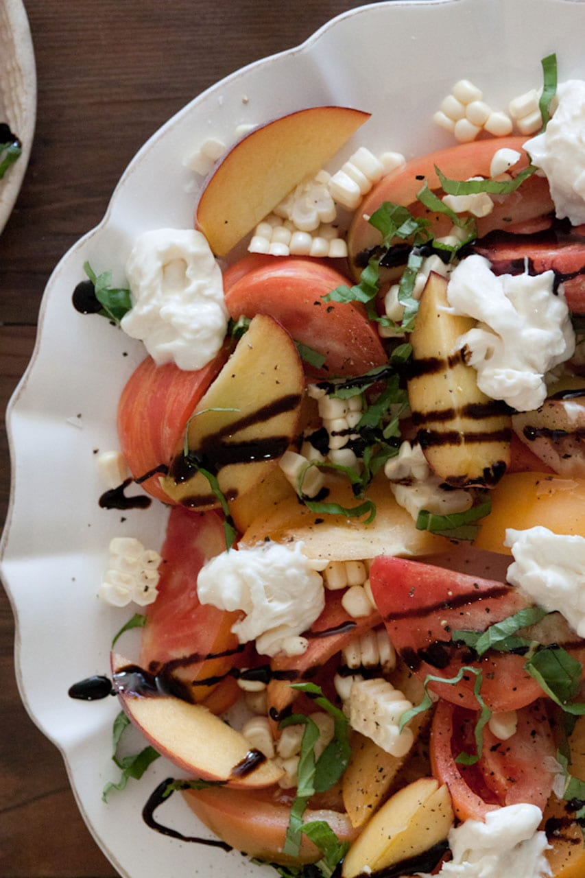 Tomato, Peach and Burrata Salad Recipe
