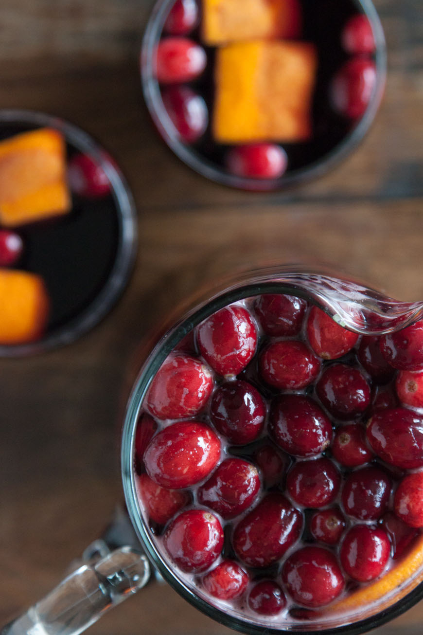 Cranberry Sangria / New Years Eve Menu