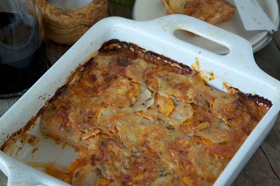Potato & Sweet Potato Gratin / What's Gaby Cooking