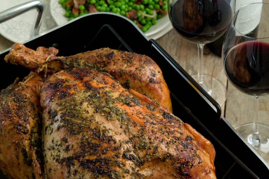 roast turkey and herb roasted turkey roasted butter herb turkey