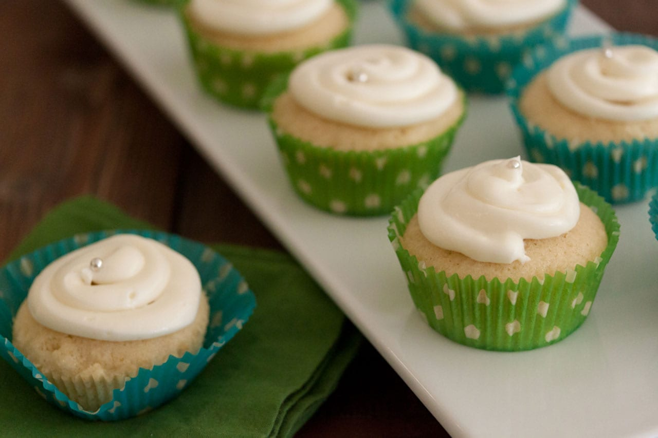 Lemon Coconut Cupcakes with Cream Cheese Frosting