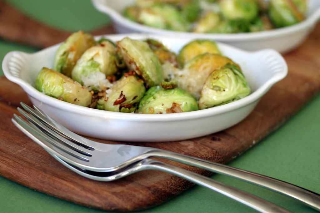 Lemon Garlic Brussel Sprouts from www.whatsgabycooking.com