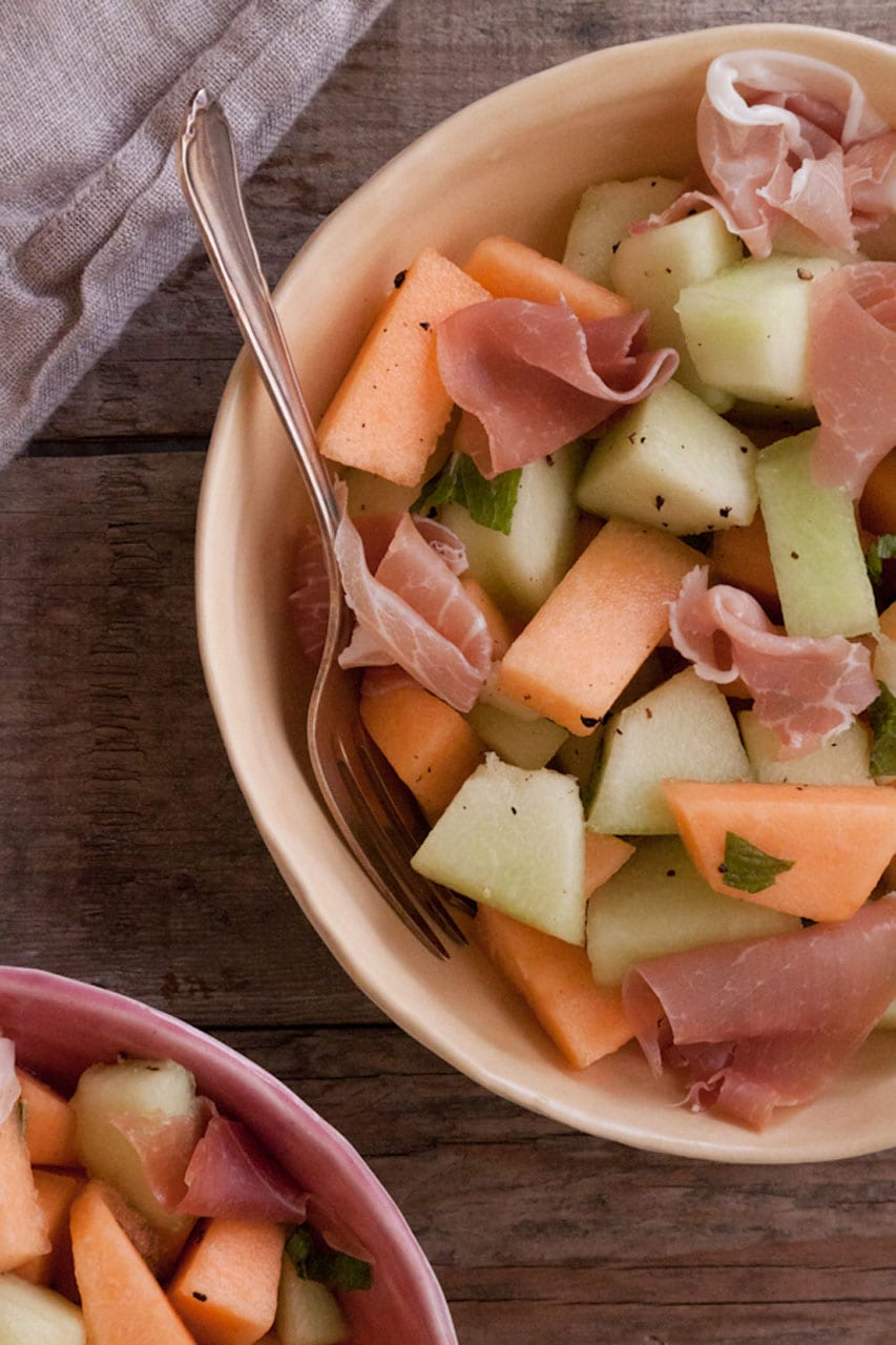 Melon and Proscuitto Salad recipe