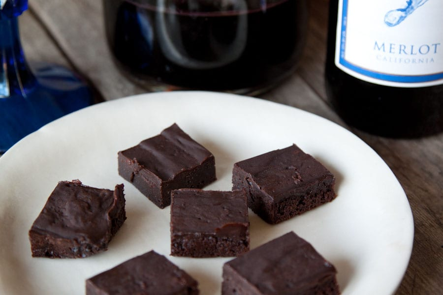 Red Wine Brownies - What's Gaby Cooking