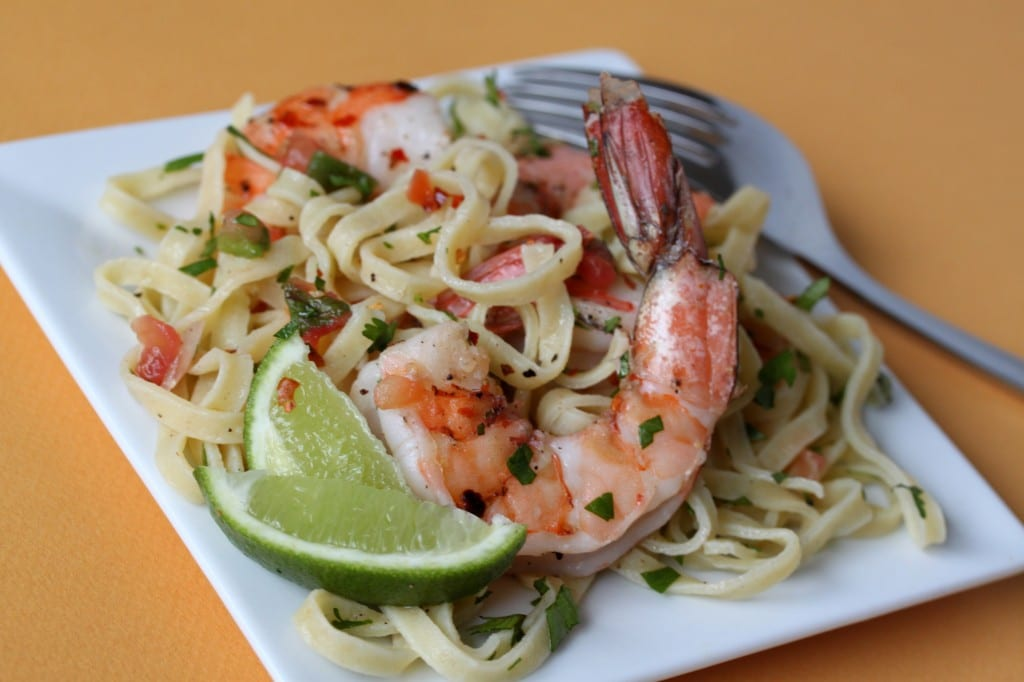 Mexican Shrimp Pasta
