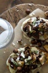 Mushroom and Fontina Tartine