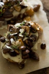 Mushroom and Fontina Tartine 1