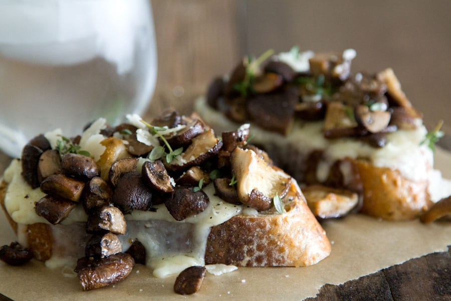 Mushroom and Fontina Tartine 2