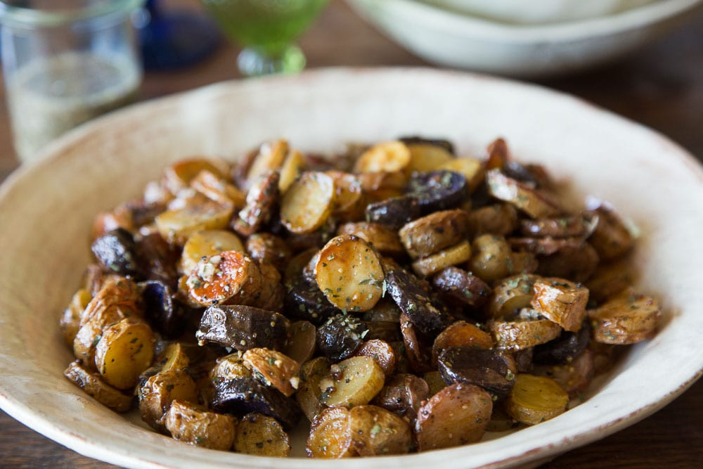 Warm Mustard and Herb Fingerling Potato Salad - What's Gaby Cooking