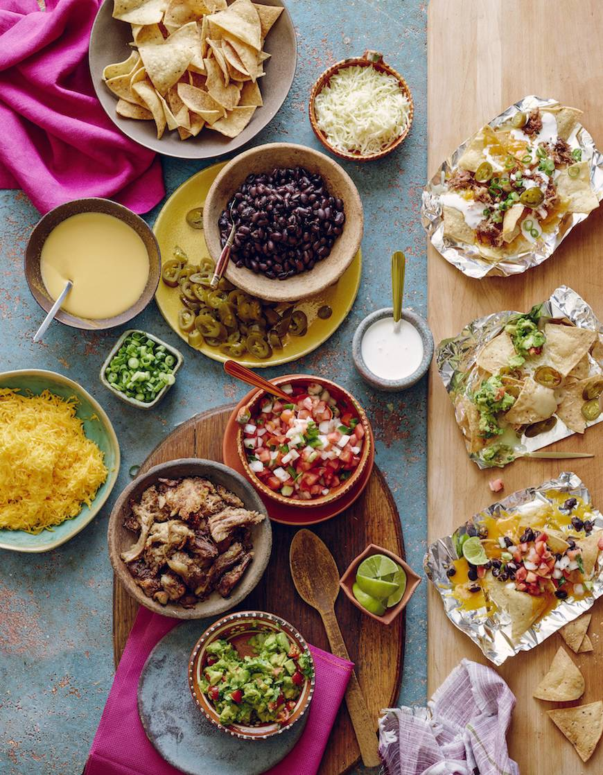 Nacho Bar / Game Day / from www.whatsgabycooking.com (@whatsgabycookin)