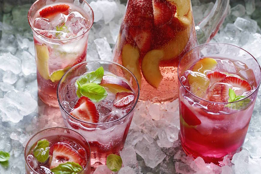 Strawberry and Peach Rosé Sangria
