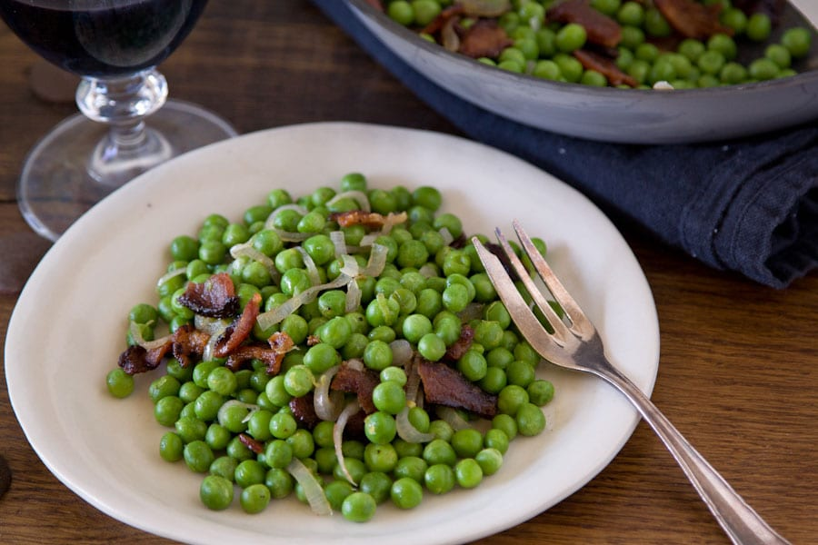 Sauteed Peas and Bacon Recipe
