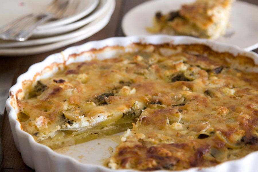Pesto and Goat Cheese Gratin : What's Gaby Cooking