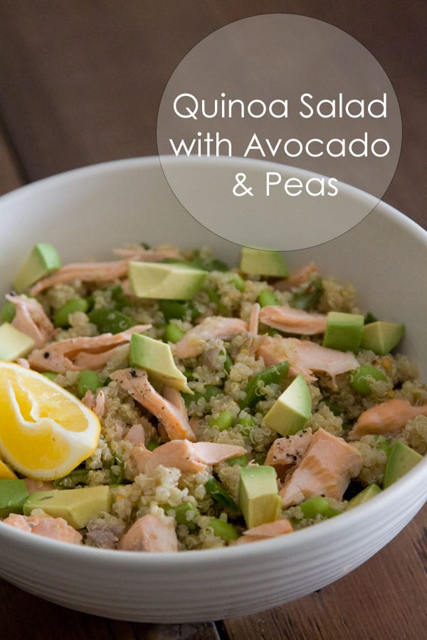 Quinoa Salad with Avocado and Peas from Whats Gaby Cooking