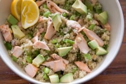 Quinoa Salad with Avocado and Peas from www.whatsgabycooking.com