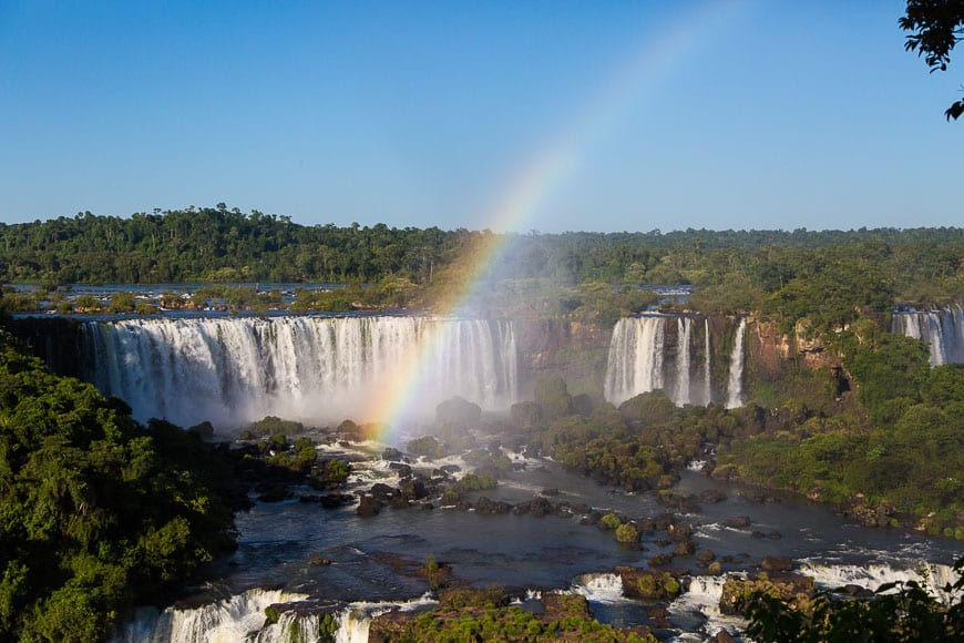 Rainbow over Iguassu Falls, Brazil