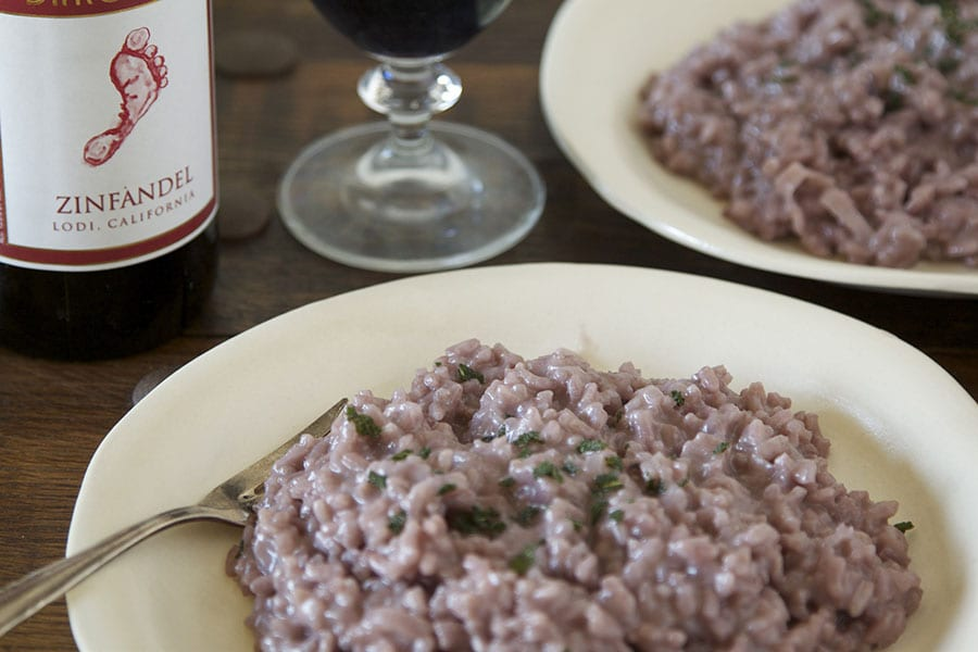 Red Wine Risotto from www.whatsgabycooking.com