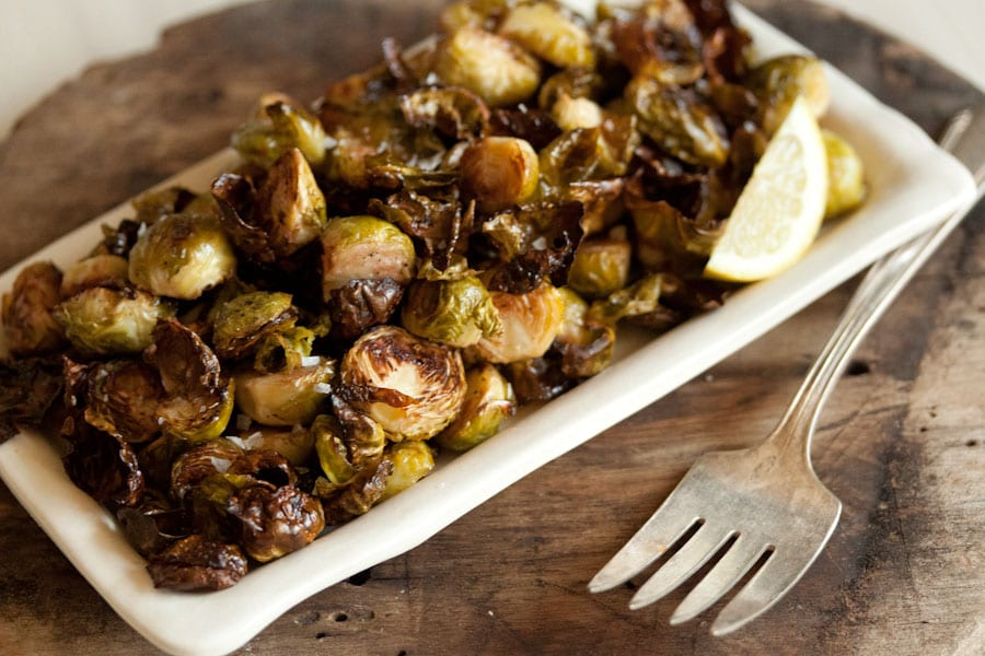 Crispy Lemon Roasted Brussels Sprouts Recipe — Dishmaps