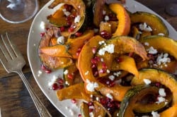 Roasted Pumpkin and Squash with Pomegranate and Ricotta Salata