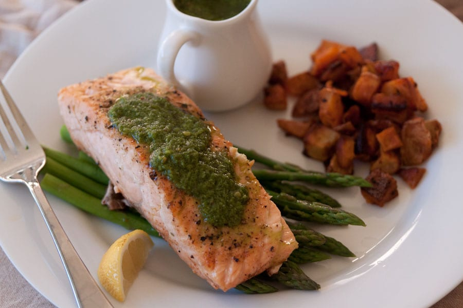 Salmon with Pesto