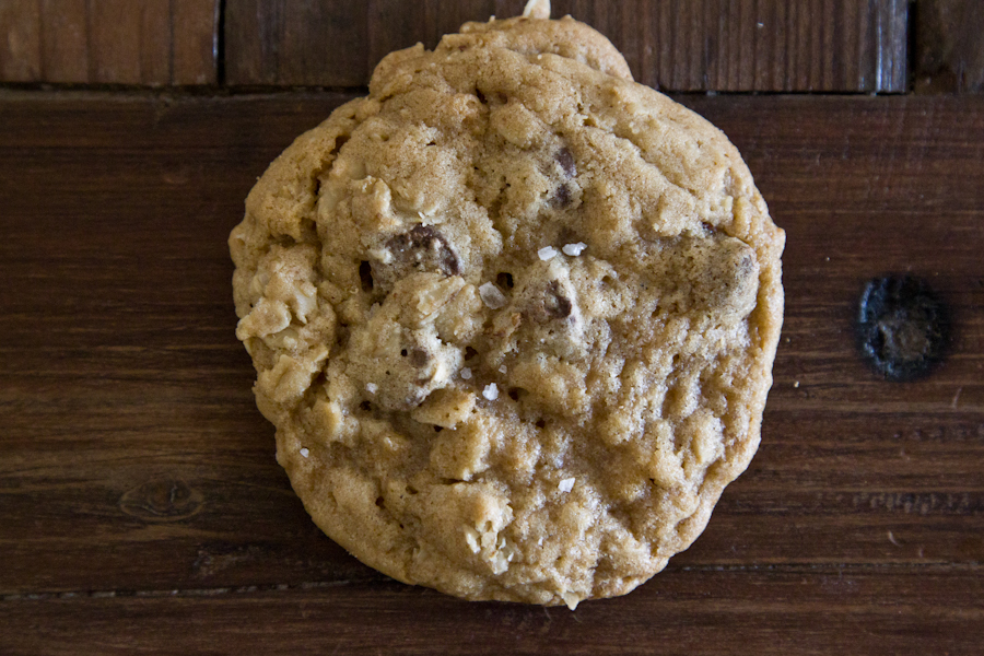 Salted Brown Butter Oatmeal Chocolate Chip Cookie