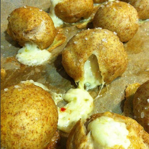 Pepper Jack Stuffed Pretzel Bites from www.whatsgabycooking.com