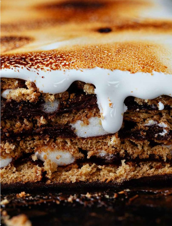 S'more Pudding Cake / Desserts for Chocolate Lovers from www.whatsgabycooking.com (@whatsgabycookin)
