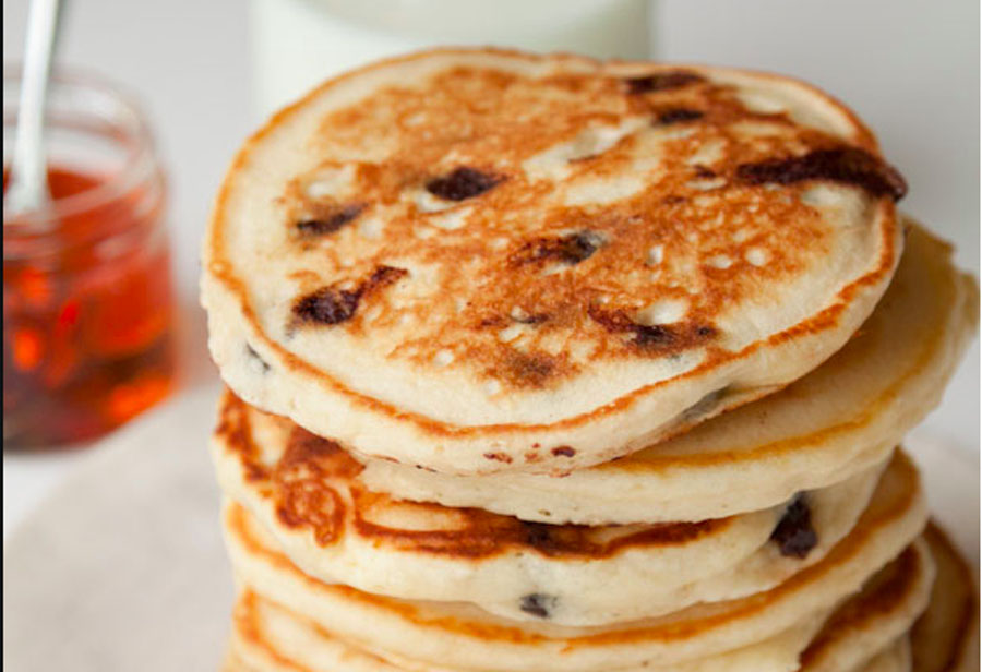 Chocolate Chip Sour Cream Pancakes
