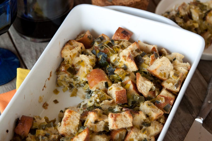 Parmesan and Leek Sourdough Stuffing Recipe