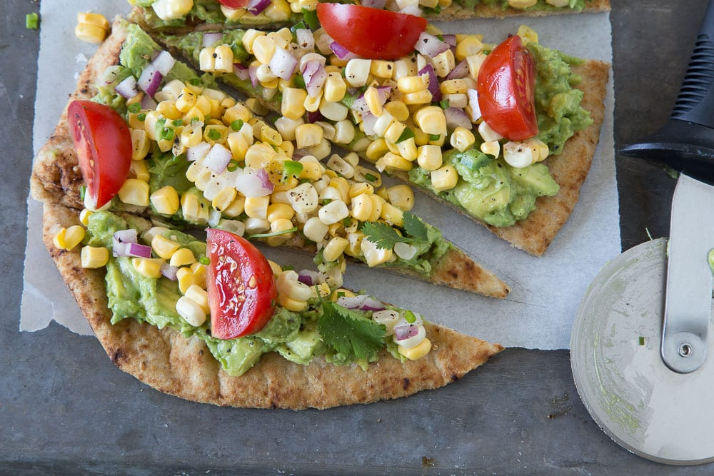 Southwestern Flatbread with Guacamole