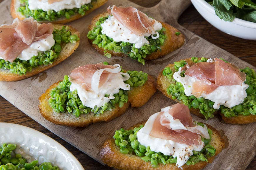Spring Pea Crostini - What's Gaby Cooking