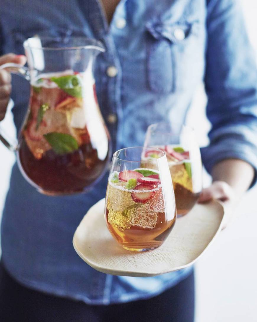 Strawberry Basil Iced Tea Sparkler - What's Gaby Cooking