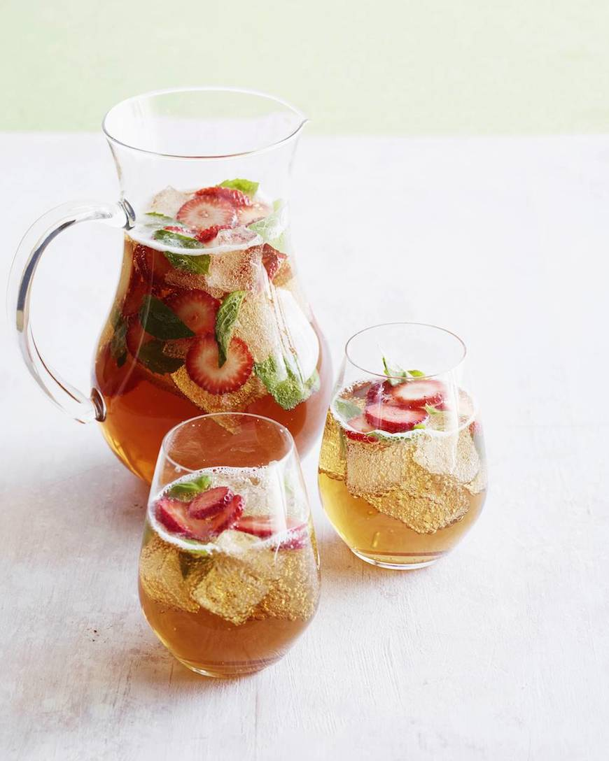 ... Strawberry Basil Iced Tea Sparkler is my current bubbly obsession