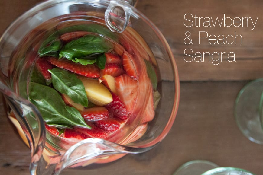 Strawberry and Peach Rose Sangria - What's Gaby Cooking