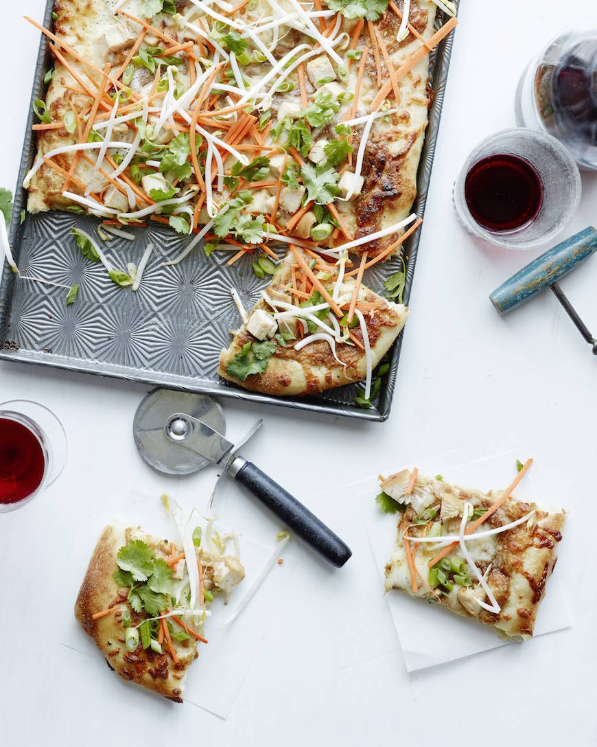 Thai Chicken Pizza from www.whatsgabycooking.com (@whatsgabycookin)