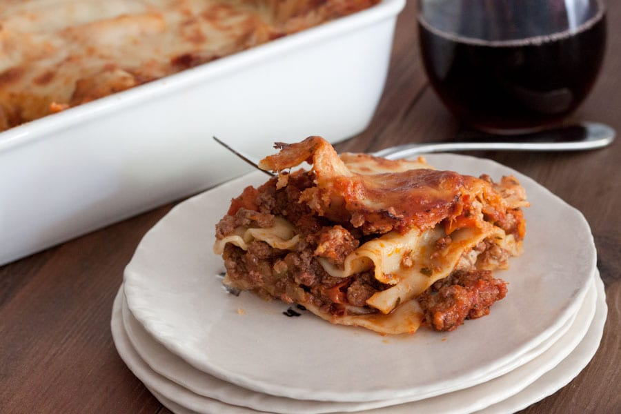 Three Meat Lasagna