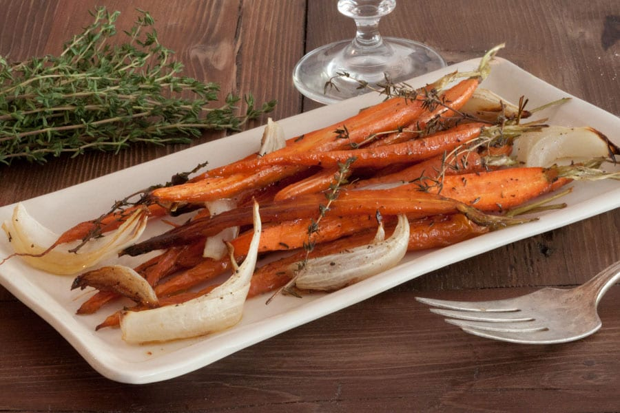 Thyme and Honey Roasted Carrots