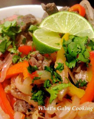 Beef Fajitas with a Cilantro Lime Marinade