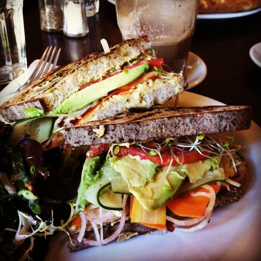 Big Sur Bakery - Avocado Hummus Sandwich